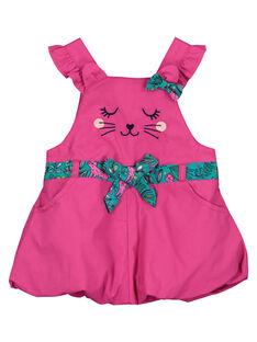 Baby girls' poplin dress FITUROB2 / 19SG09F2ROB712