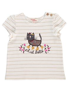 Baby girls' short-sleeved T-shirt DICHOTEEEX / 18WG09F1TMC099