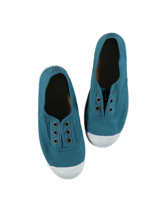 Boys' plain canvas trainers FGTENROL / 19SK36B6D16616