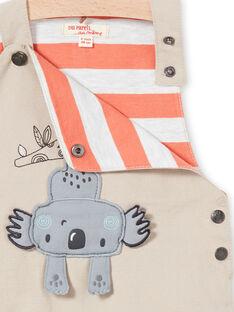 Beige overalls baby boy LUPOESAL / 21SG10Y1SAL811