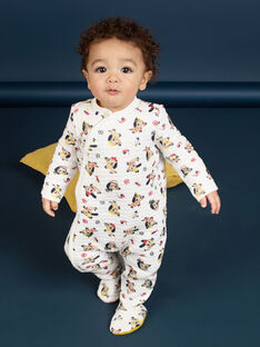 Fancy dog print sleep suit in double jersey padded and quilted. LEFUGREAOP / 21SH1412GRE001