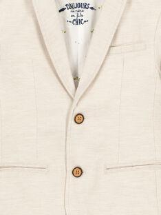 Boys' beige suit jacket FOPOVES / 19S902C1VESI811