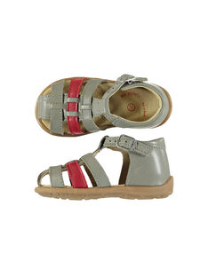 Baby boys' smart leather sandals. FBGSANDBI3 / 19SK38D2D0E940