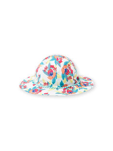 Child girl's hat with colorful floral print JYAMARHAT / 20SI01P2CHA000