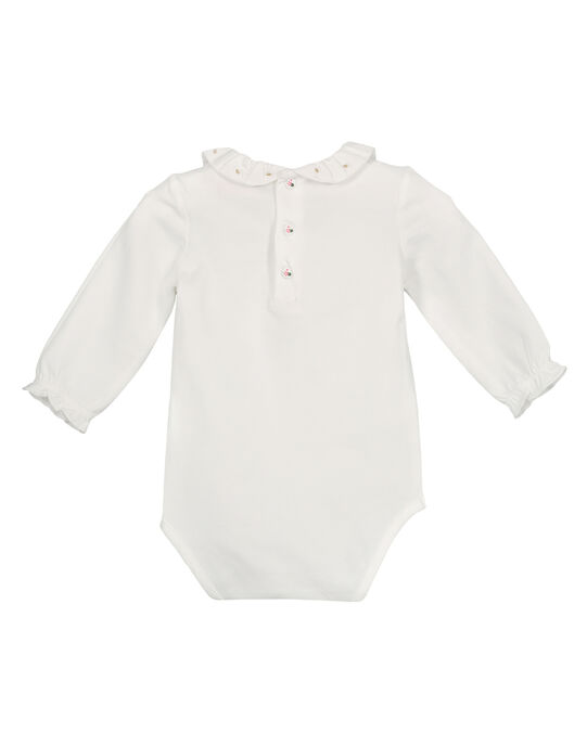 Baby girls' ruffled collar bodysuit GIVEBODY / 19WG0921BOD001