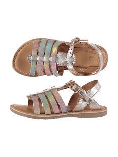 Girls' smart sandals in two fabrics FFSANDMILA / 19SK35D5D0E954