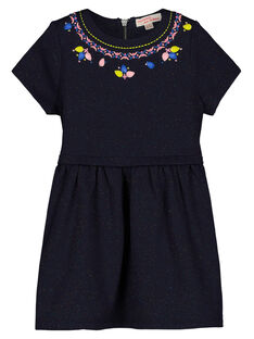 Girls' glitter knit trapeze dress GABLEROB2 / 19W90191ROB070