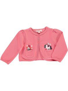 Baby girls' cardigan CIHOCARDI2 / 18SG09E1CAR404