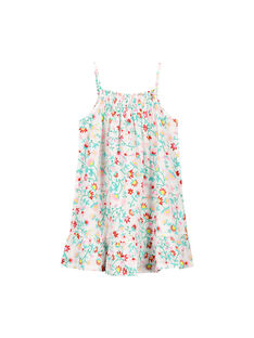 Girls' cotton floral summer dress FAJOROB14 / 19S901G6ROB000