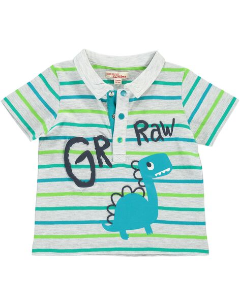 Baby boys' short-sleeved polo shirt CUDOUPOL / 18SG10J1POL099