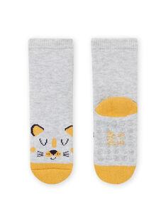 Baby boy's grey leopard print socks MYUJOCHOB1 / 21WI1017SOQ943
