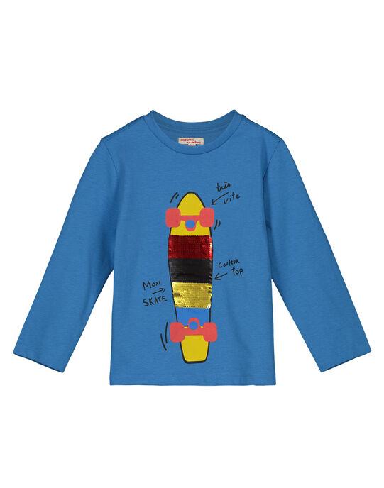 Boys' skateboard print T-shirt GOBLETEE2 / 19W90291TMLC232