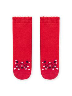 Baby girl red leopard socks MYIJOSOQB1 / 21WI0911SOQ511
