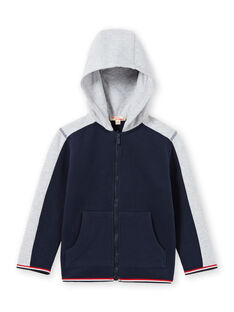 Boy's navy blue and grey hoodie MOJOJOH1 / 21W90212JGH705