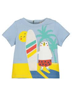 Baby boys' printed T-shirt FUCUTI1 / 19SG10N1TMC213