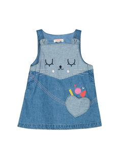 Baby girls' denim dress FICOROB2 / 19SG0982ROB704
