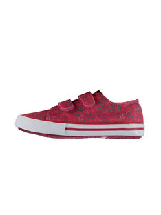 Girls' printed canvas trainers FFVELFLOW / 19SK35B1D16030