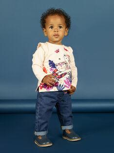 Baby girl long sleeve tiger print t-shirt MIPATEE1 / 21WG09H4TMLD319