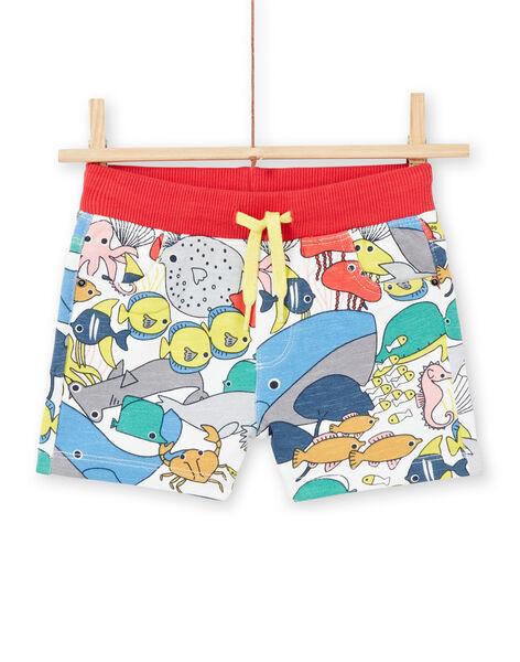 Bermuda shorts ecru baby boy LUVIBER3 / 21SG10U2BER001