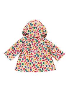 Baby girls' hooded raincoat FICOIMP / 19SG09X1IMP099