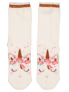 Girls' unicorn socks GYAVECHO / 19WI0121SOQ001