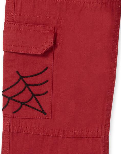 Red Cargo Pants - Child Boy LOROUPAN / 21S902K1PANF506