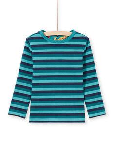 Baby boy blue reversible long sleeve t-shirt MOTUTEE3 / 21W902K1TMLC239