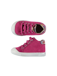 Baby girls' leather trainers FBFBASKET / 19SK3731D3F304