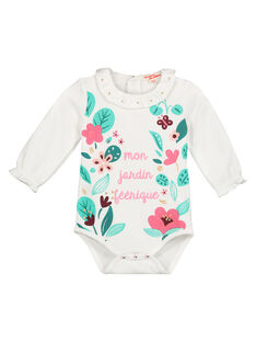 Baby girls' ruffled collar bodysuit GIVEBODY / 19WG0921BOD001