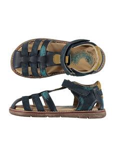 Boys' smart leather sandals FGSANDPALM / 19SK36D3D0E070