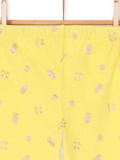 Yellow leggings child girl LYAJAULEG1 / 21SI01O1CAL116