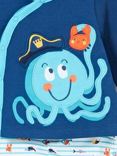 Octopus brushed fleece boy's pyjamas LEGAPYJPIE / 21SH1451PYJC230