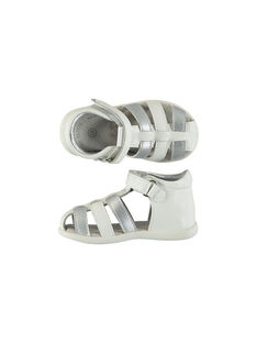 Baby girls' smart leather flex sandals FBFSANDFLEX / 19SK37C2D0E000