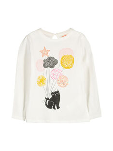 Girls' long-sleeved T-shirt FALITEE2 / 19S90122TML001