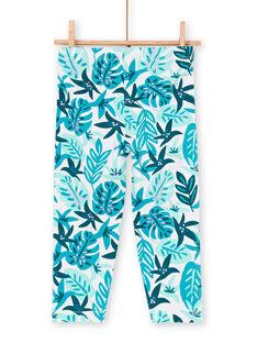 Leggings blue child girl LYAVERLEG / 21SI01Q1CAL001