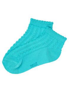 Medium turquoise Socks JYABOCHO / 20SI01H1SOQ209