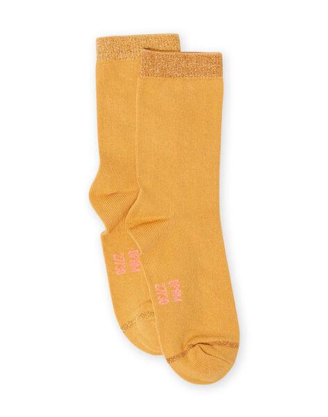 Girl's mustard socks MYAJOCHO1 / 21WI0118SOQB106