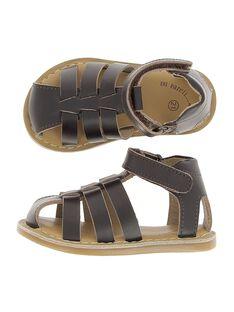 Baby boys' leather sandals CBGSANDUN1 / 18SK38W3D0E802