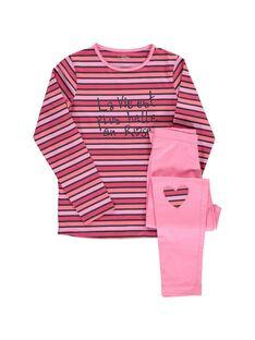 Girls' cotton pyjamas CEFAPYJROS / 18SH1144PYJ099