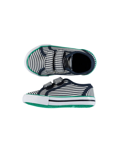 Baby boys' canvas trainers FBGVELRAY / 19SK38C6D16070