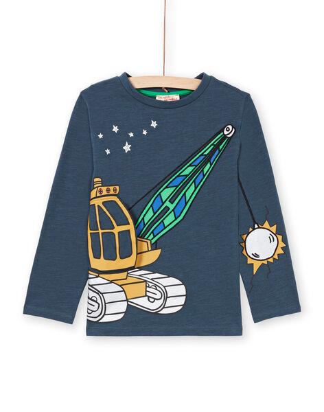 Boy's navy blue T-shirt MOCOTEE3 / 21W902L2TMLC202