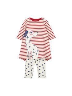 Girls' cotton nightdress FEFACHURAY / 19SH1144CHN099