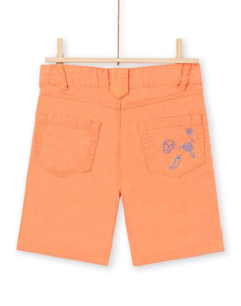 Boy's orange Bermuda shorts JOMARBER2 / 20S902P2BERE405