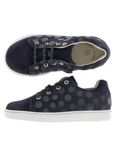 Girls' leather city trainers DFBASDOTS / 18WK35T8D3F070