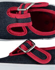 Baby boys' canvas T-bar shoes FBGSALJEAN / 19SK38C1D17C218