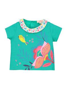 Baby girls' short-sleeved T-shirt FICABRA / 19SG09D1BRA209