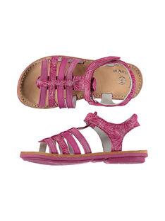 Girls? smart leather multi-strap sandals FFSANDMIN2 / 19SK35D1D0E304