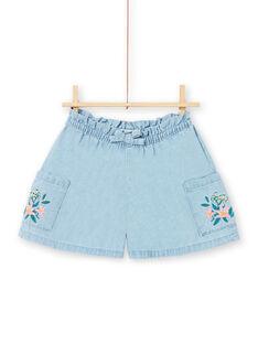Baby Girl Light Blue Denim Shorts LAVERSHORT1 / 21S901Q1SHOP272