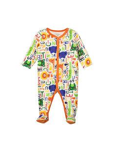 Boys' velour sleepsuit FEGAGREGRE / 19SH1448GRE099