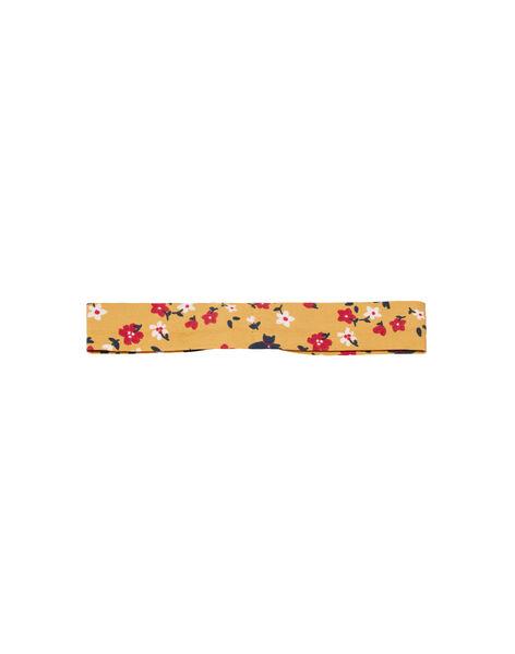 Baby girl yellow headband with flower print MYIMIXBAN / 21WI09J1BANB106